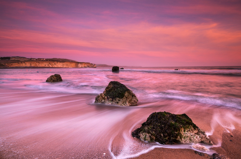 z1960 Evening Pinks, Freshwater Bay - Freshwater Bay to Colwell Bay