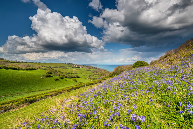 z3055 April Showers, Ventnor Down - Sandown, Shanklin, Luccombe and Wroxall