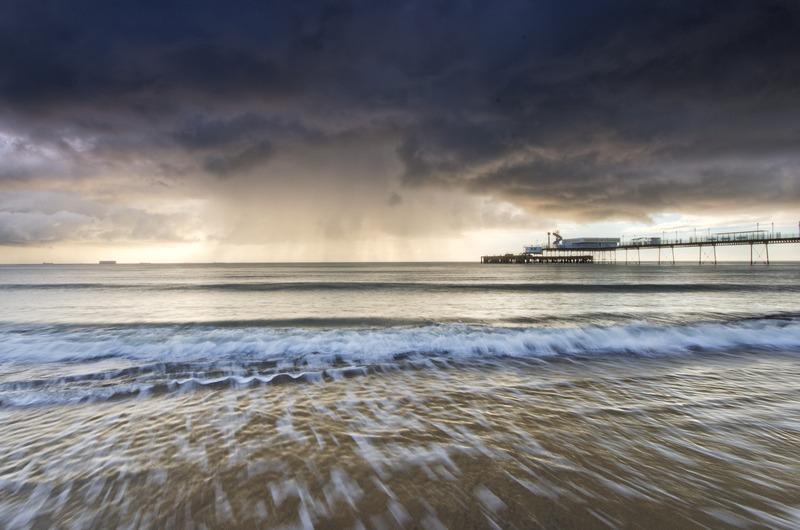 z2323 Winter Storm over Sandown Bay - Sandown, Shanklin, Luccombe and Wroxall