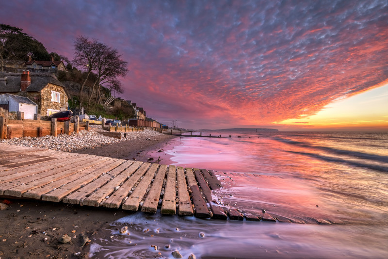 z2884 Sunrise, Fishermans Beach Shanklin - Sandown, Shanklin, Luccombe and Wroxall
