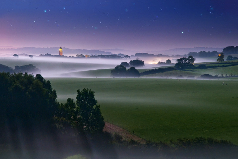 z1902 Bowcombe by Moonlight - The Inner Island inc Newport & Godshill