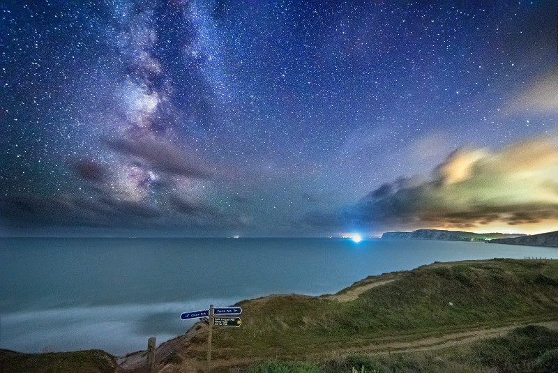 z3093 Milky Way over Compton Bay - Blackgang to Compton inc West Wight