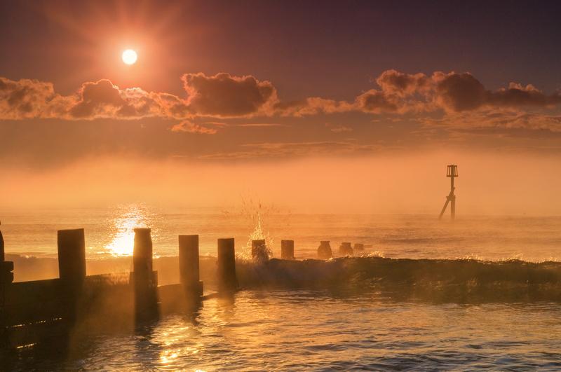z1921 Morning Mist, Sandown Bay - Sandown, Shanklin, Luccombe and Wroxall