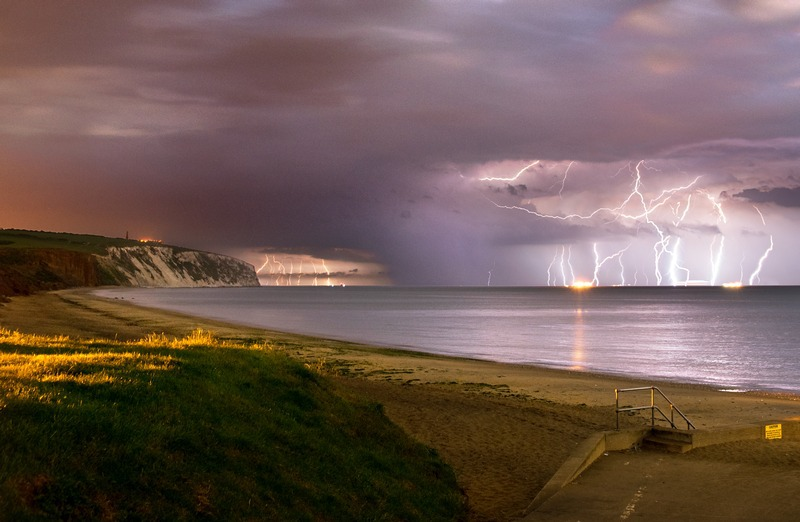 z2415 Passing Storm Sandown Bay - The Lightning Gallery