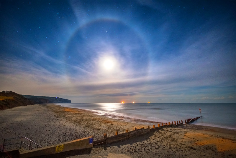 z3137 Halo over Culver - Sandown, Shanklin, Luccombe and Wroxall