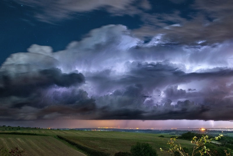 z2540 Lightning from Within, from Brading Down - The Lightning Gallery