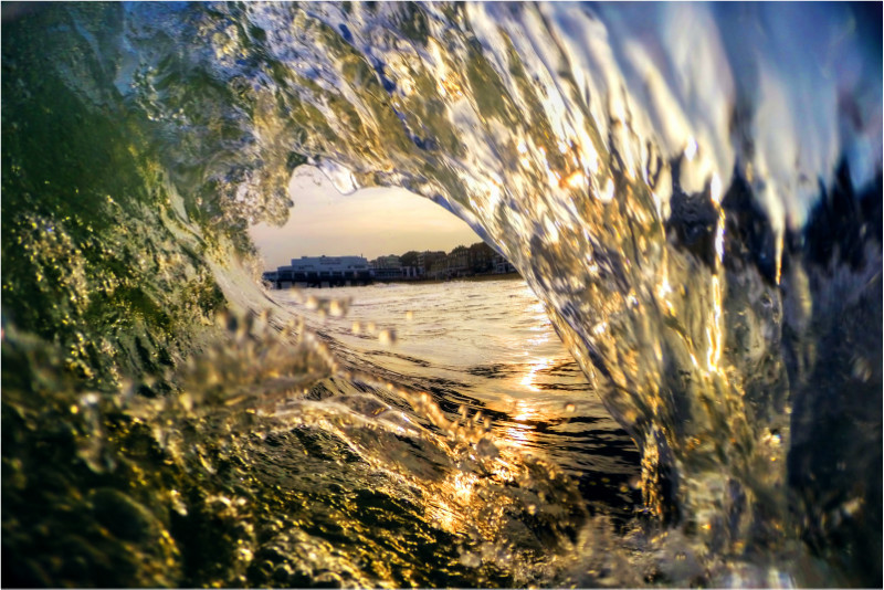 w037 Glassy Hollow Wave, Sandown Bay - The Wave Gallery
