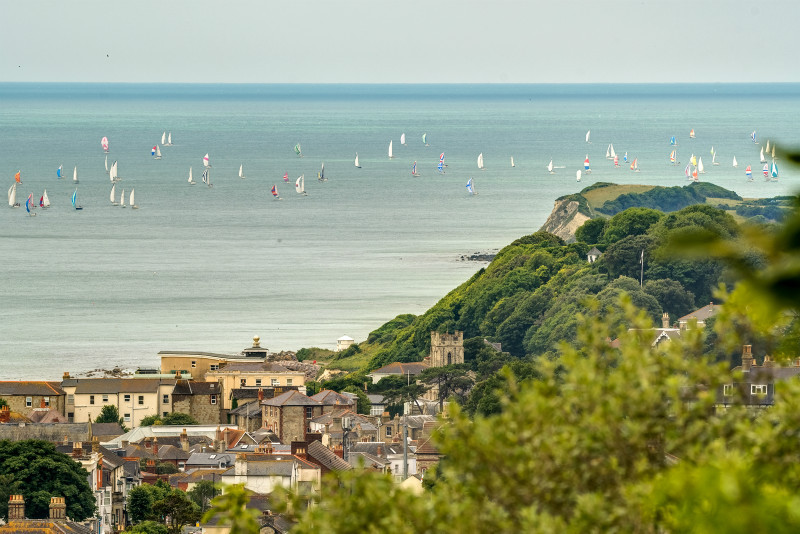 z3081 Round the Island Race, Ventnor - Ventnor to St Catherine's inc Bonchurch & Whitwell