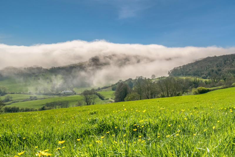 z3043 Rolling Fog, Ventnor Down - Sandown, Shanklin, Luccombe and Wroxall