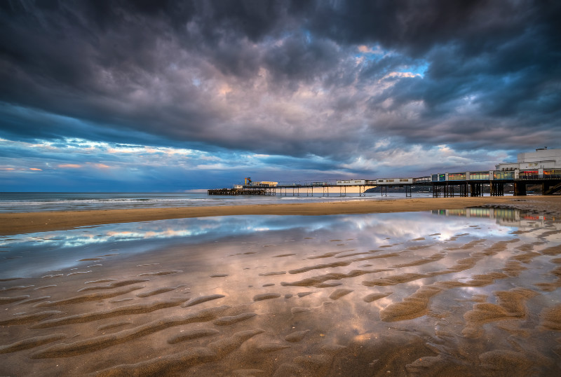 z2891 Sandown Pier Reflections - Sandown, Shanklin, Luccombe and Wroxall