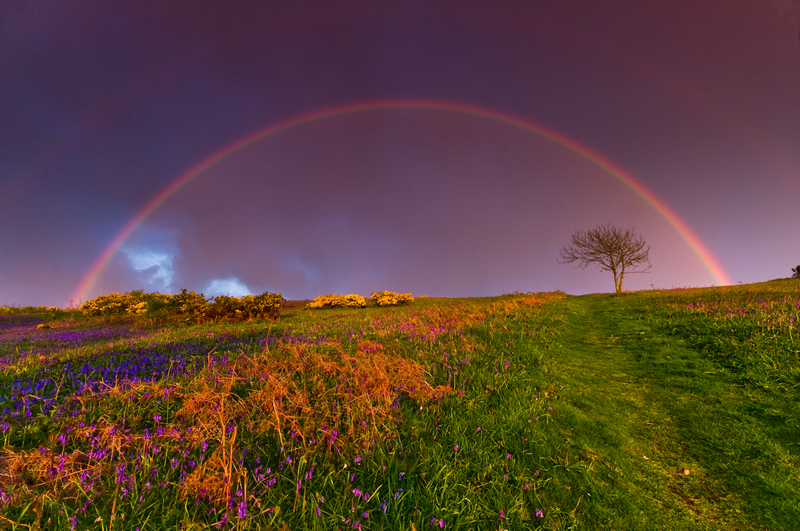 z1596 Rainbow and Storm, Ventnor Down - Ventnor to St Catherine's inc Bonchurch & Whitwell