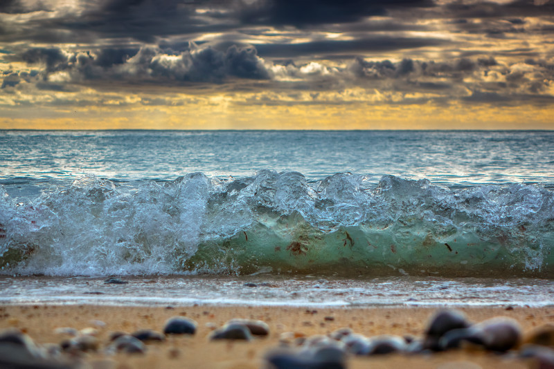 z2841 Winter Wavelet at Freshwater Bay - The Wave Gallery