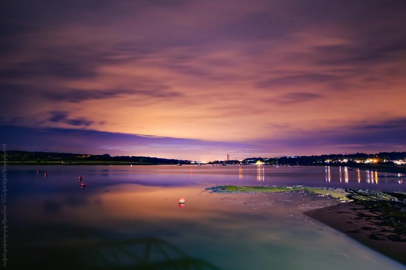 River Medina at Night Isle of Wight Margaret Smith - Twilight Wight