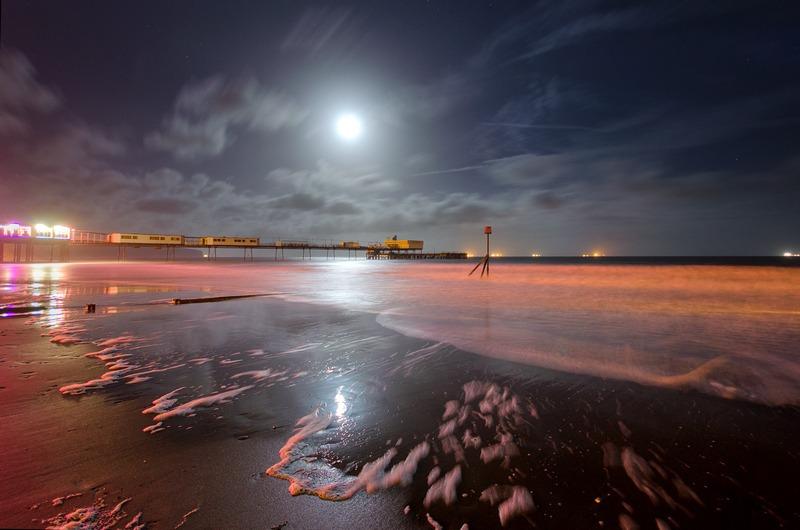 z2291 Sandown Pier by Moonlight - Sandown, Shanklin, Luccombe and Wroxall