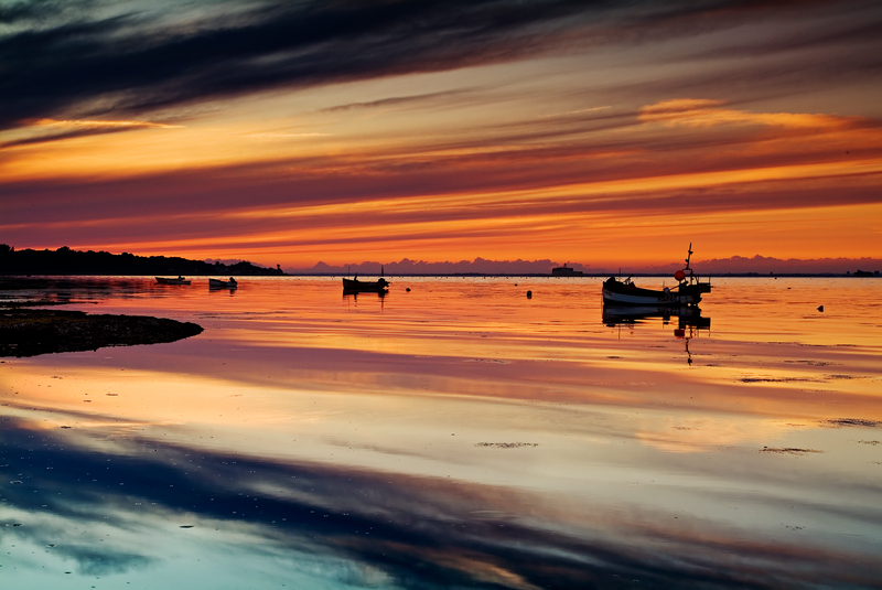 z1020 Bembridge Evening Silk - Seaview to Bembridge, Whitecliff Bay and Brading