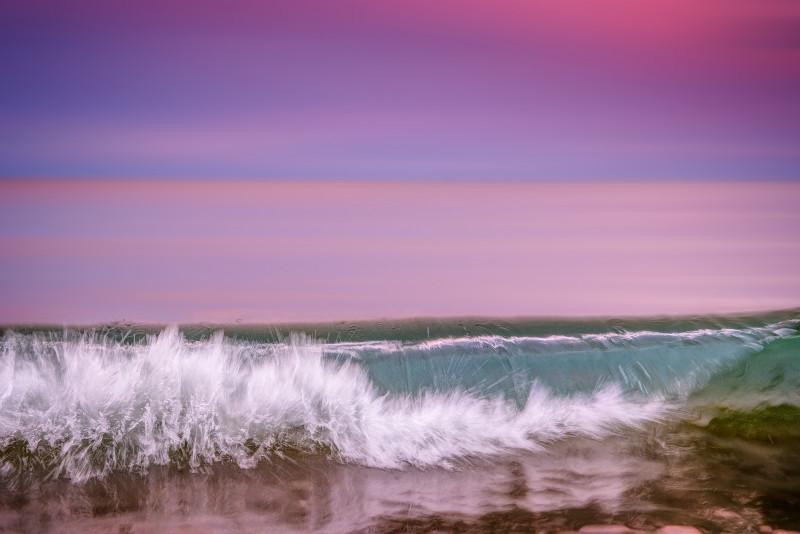 z3107 Purple Sunset Wave, Sandown bay - The Wave Gallery
