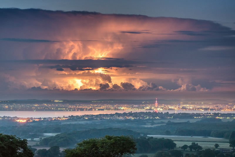 z3222 Distant Storm overlooking Portsmouth - Latest Photos
