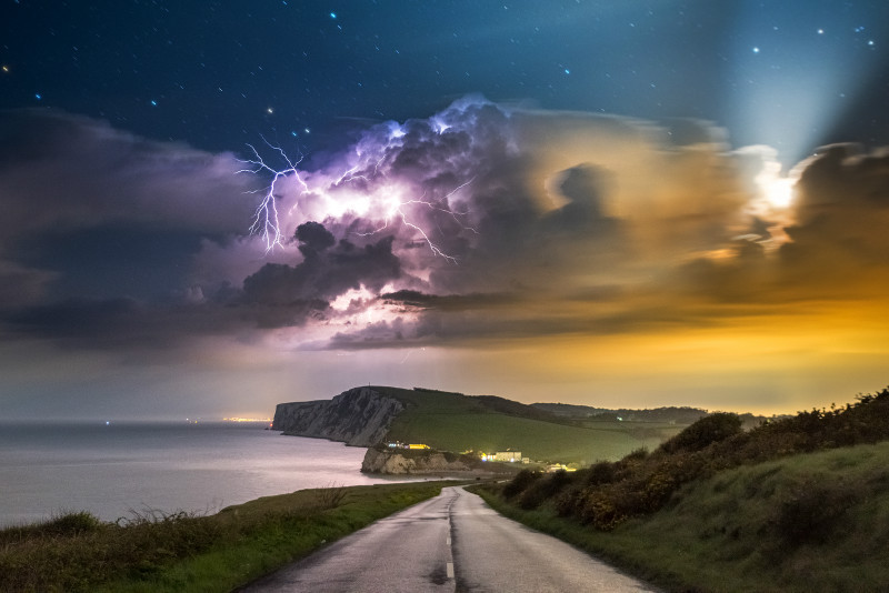 z3202 Small West Wight Storm by Moonlight - Latest Photos