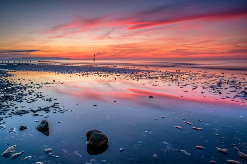 z2772 Reflections of Dawn, Shanklin Beach - Sandown, Shanklin, Luccombe and Wroxall