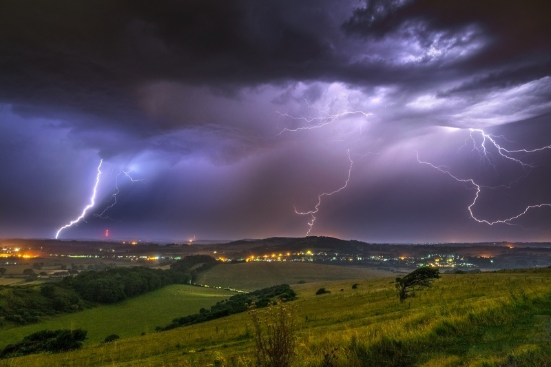 z2664 Summer Storm over Brading Down - The Lightning Gallery