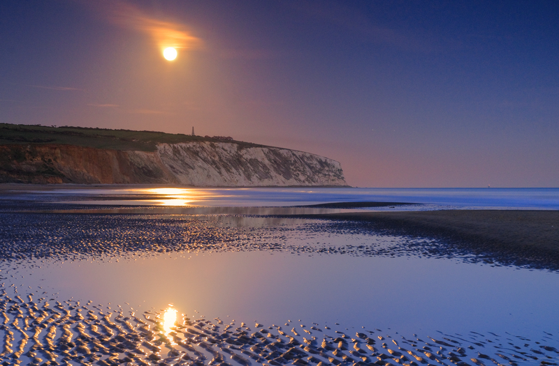 z1959 Moonlit Culver at Dusk - Sandown, Shanklin, Luccombe and Wroxall