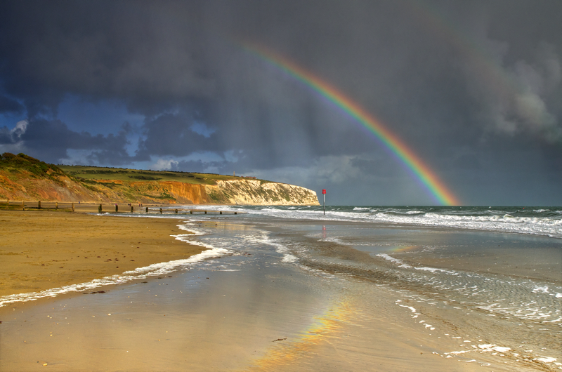 z2130 Stormy Reflections, Culver Cliff - Sandown, Shanklin, Luccombe and Wroxall