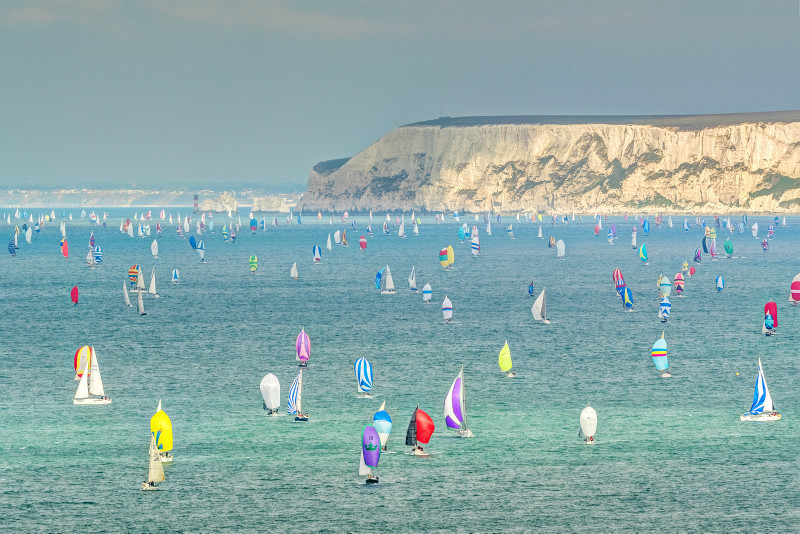 z3075 Round the Island Race and The Needles - Blackgang to Compton inc West Wight