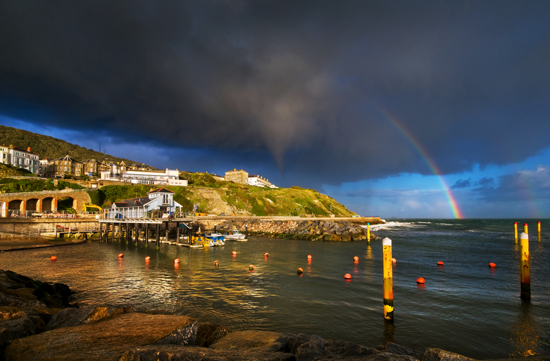 z1457 After the Storm, Ventnor Harbour - Ventnor to St Catherine's inc Bonchurch & Whitwell