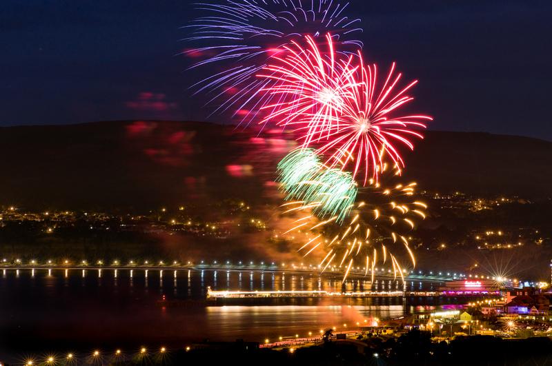 z2016 Fireworks, Sandown Bay - Sandown, Shanklin, Luccombe and Wroxall