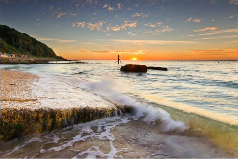 w047 Colwell Bay at Sunset - The Wave Gallery