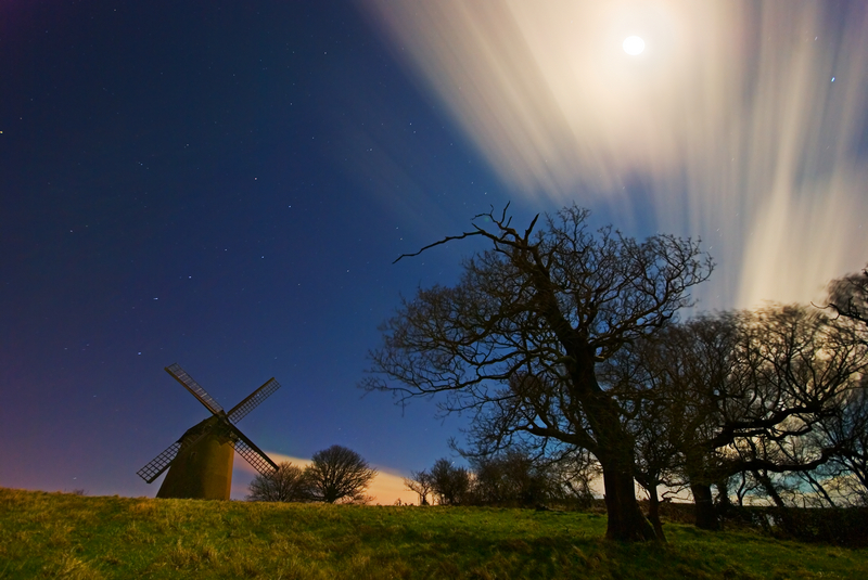 z1250 Bembridge Windmill by Moonlight - Seaview to Bembridge, Whitecliff Bay and Brading
