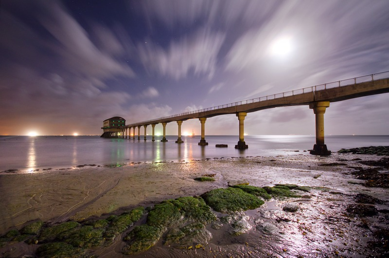 z2289 Bembridge Lifeboat station by Moonlight - Seaview to Bembridge, Whitecliff Bay and Brading