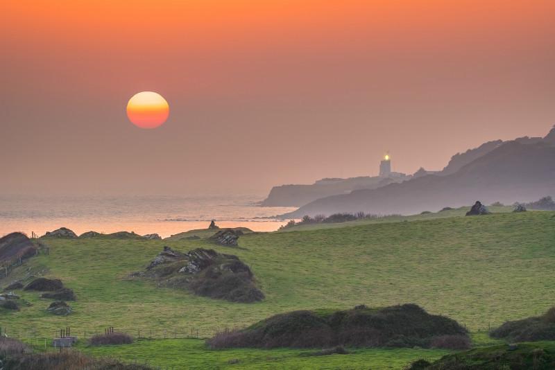 z3124 Hazy Sunset IOW South Coast - Latest Photos