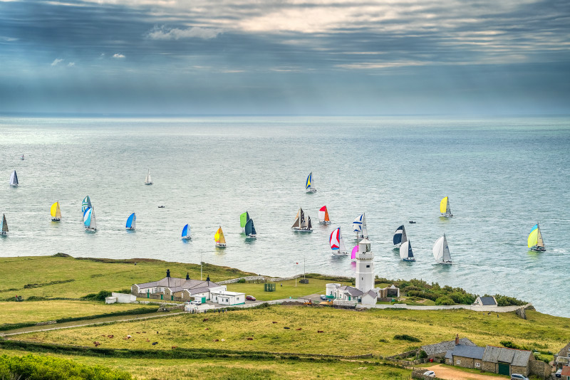 z3083 Round the Island Race, St Catherine's Lighthouse - Ventnor to St Catherine's inc Bonchurch & Whitwell