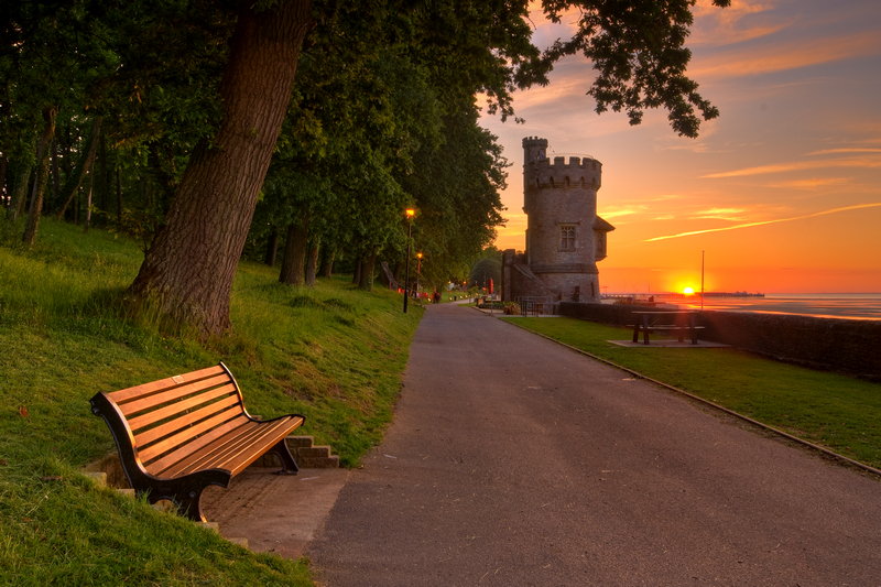 z1871 Appley Tower at Sunset - East Cowes to Ryde inc Haventstreet, Ashey