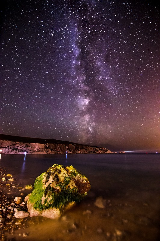 z2235 Milkyway over the Needles - Freshwater Bay to Colwell Bay