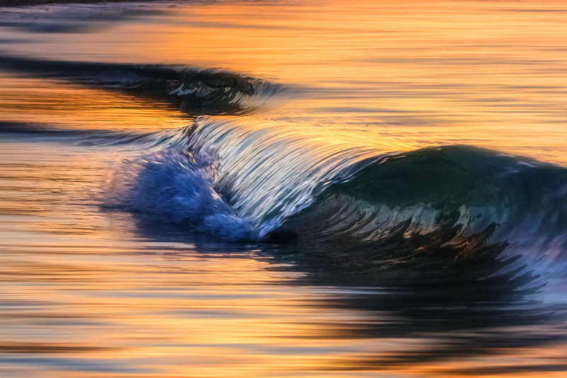 z2931t Sunset Waves, Seaview - The Wave Gallery