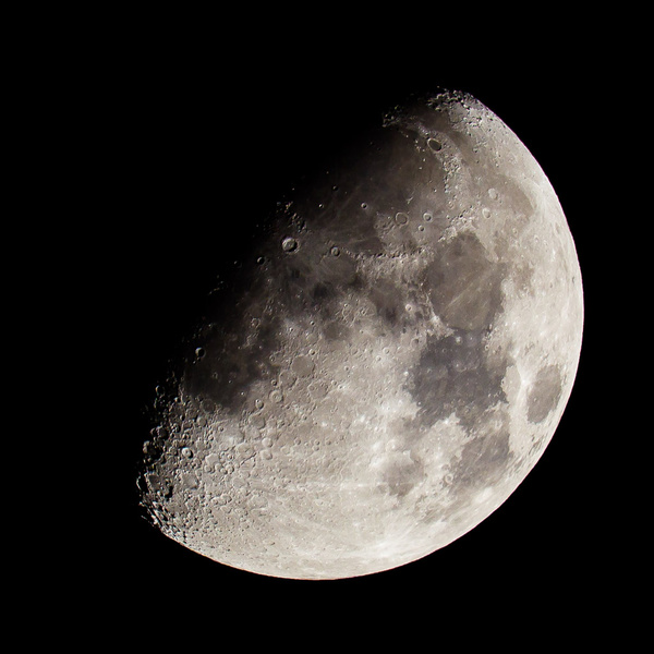 Waxing Gibbous Moon - Travel & Landscapes