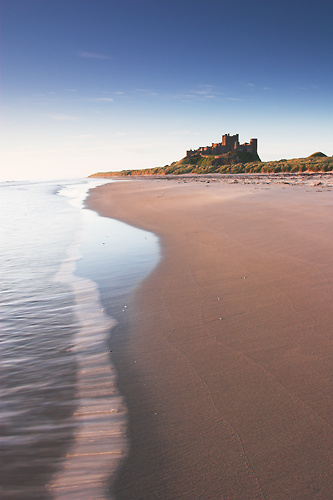 Early Morning Tide, Bamburgh Castle - Northumberland