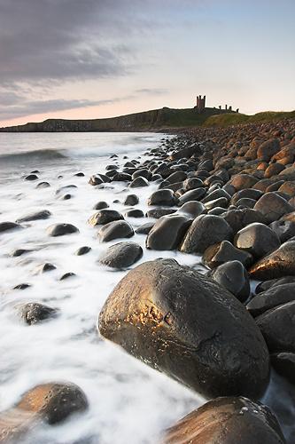 Lilburn Tower. Embleton Beach, Northumberland. England - Northumberland