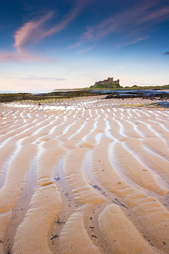 Across the Sand, Bamburgh Beach - Northumberland