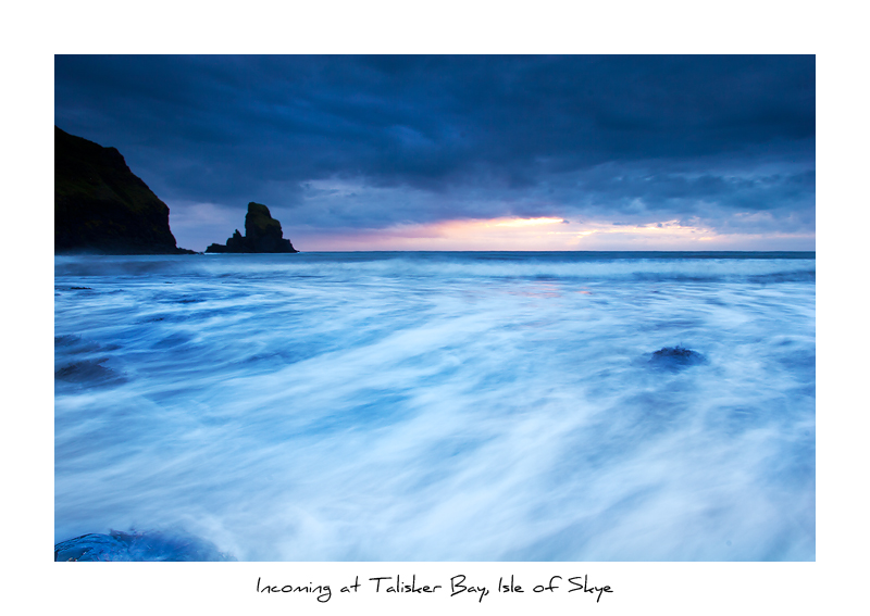 Incoming at Talisker Bay, Isle of Skye - Isle of Skye