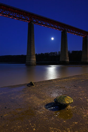 Forth Bridge by Moonlight - UK Scenery