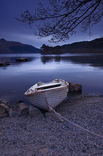 End of the day, Loch Lomond - UK Scenery