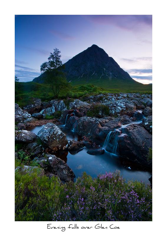 Evening falls over Glen Coe - Scottish Highlands