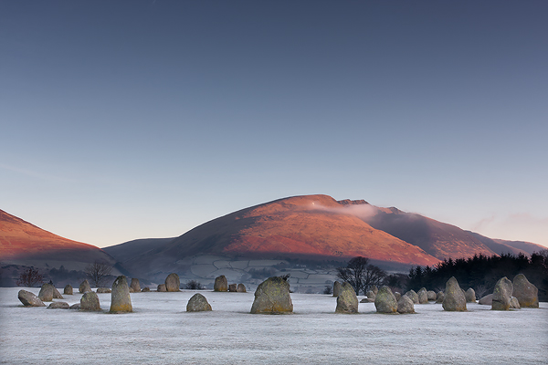 Frosty Castlerigg Stone Circle - UK Scenery