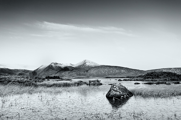 Black Mount, Rannoch Moor - Monochrome