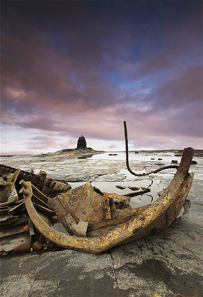 The Wreck on the Scar - Landscapes