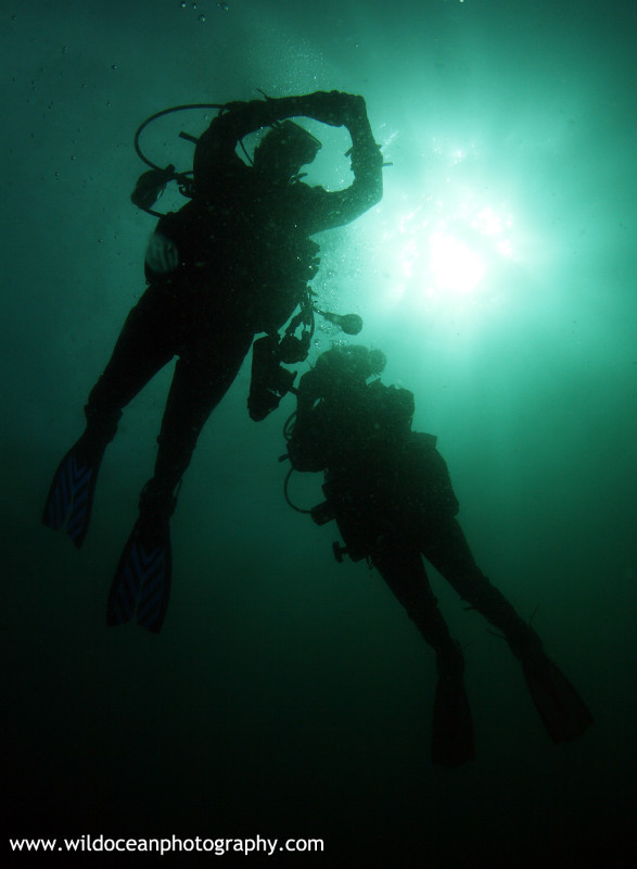 OSW034: Diver silhouettes - Shipwrecks and Divers