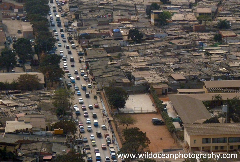 ANG001: Luanda (aerial) - Angola (W. Africa)